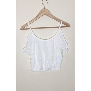 Off the Should- Short Sleeve Top (Hollister)